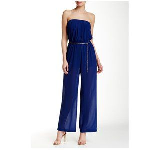 Nordstrom Iris Royal Blue Strapless Jumpsuit